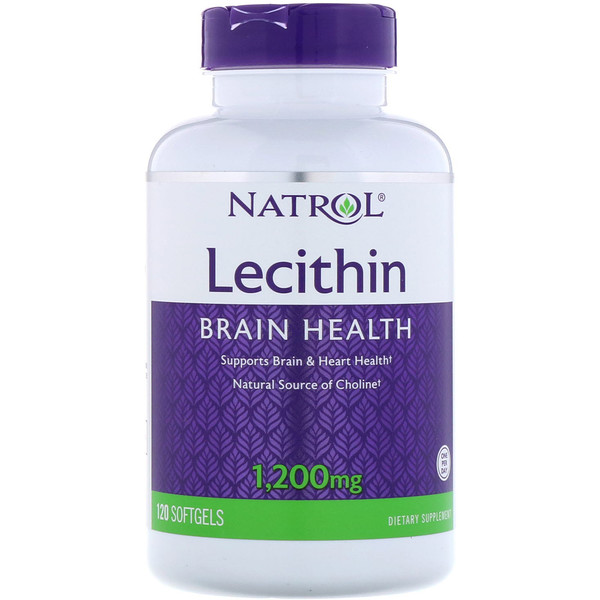 Natrol, Лецитин, 1 200 мг, 120 мягких таблеток
