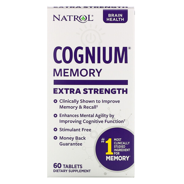 Natrol, Cognium, Сверхсила, 200 мг, 60 таблеток