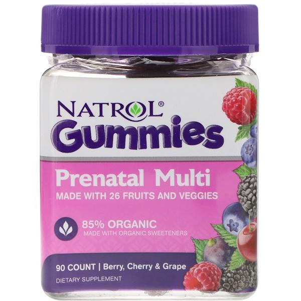 Natrol, Мармеладки, пренатальные мульти, ягоды, вишня и виноград, 90 штук (Discontinued Item)