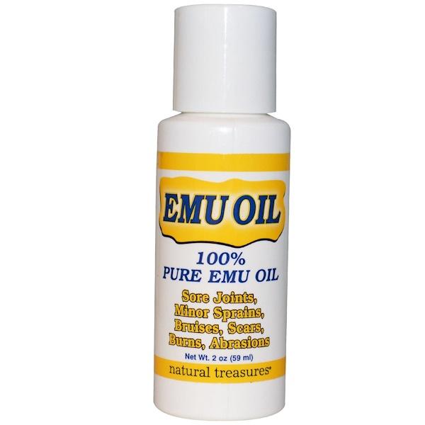 Natural Treasures, EMU Oil, 59 мл (Discontinued Item)