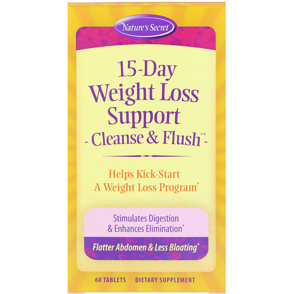 Nature's Secret, Потеря веса за 15 дней, Cleanse & Flush, 60 таблеток