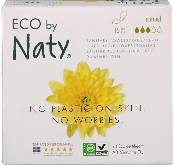 Тонкие прокладки, нормальный, 15 экологичных прокладок
