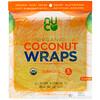 NUCO, Органические кокосовые лепешки с куркумой, 5 лепешек (14 г каждая)