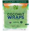 NUCO, Органические кокосовые лепешки, моринга, 5шт. (14г) каждая