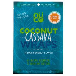 NUCO, Coconut Cassava Wraps, Milder Coconut, 5 Count, 1.94 oz (55 g)