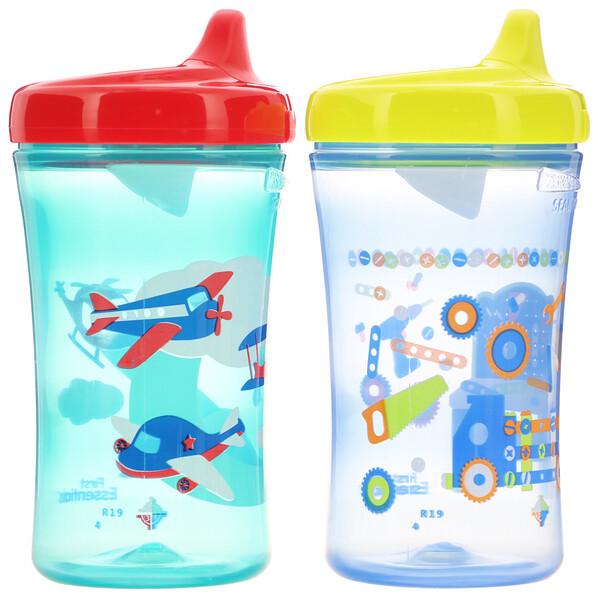 NUK, Gerber Graduates, чашки для дополнительного развития, с 12 месяцев, для мальчиков, 10 унц. (300 мл) каждый