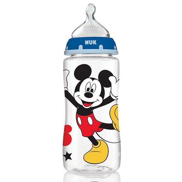 Disney Baby, Mickey Mouse Perfect Fit Bottles, Medium, 0+ Months, Grey, 3 Bottles, 10 oz (300 ml) Each