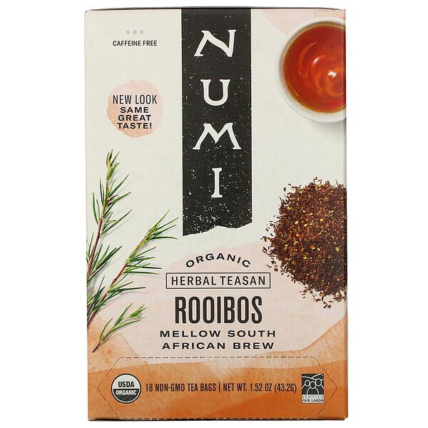 Organic Herbal Teasan, Rooibos, Caffeine Free, 18 Tea Bags, 1.52 oz (43.2 g)