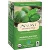 Numi Tea, Органический чай, травяные чаи, марокканская мята, без кофеина, 18 чайных пакетиков, 1,40 унц. (39,6 г)