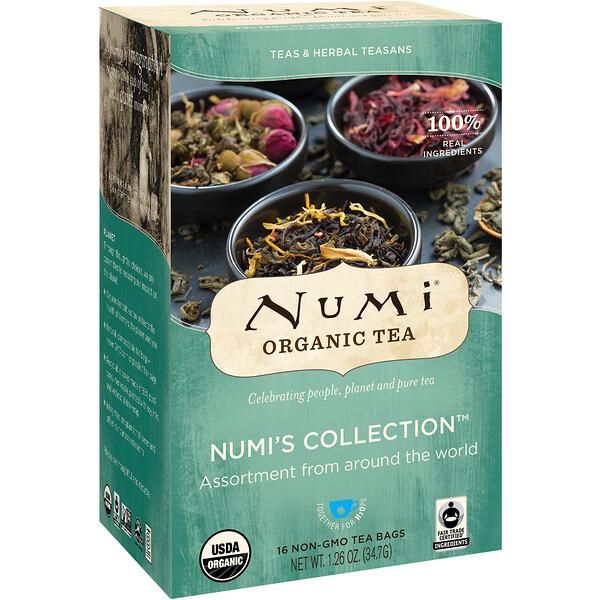 Органический чаи, чаи и травяные сборы, коллекция Numi, 16 чайных пакетиков без ГМО, 1,26 унц. (34,7 г)