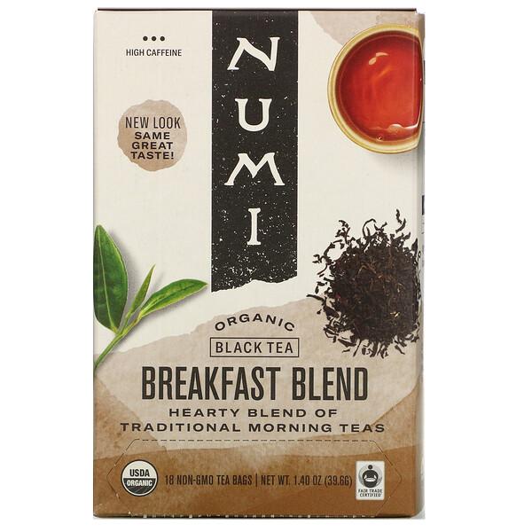 Organic Black Tea, Breakfast Blend, 18 Tea Bags, 1.40 oz (39.6 g)