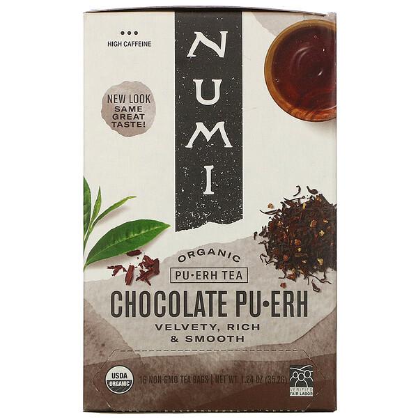 Organic Pu-Erh Tea, Chocolate Pu-Erh, 16 Tea Bags, 1.24 oz (35.2 g)