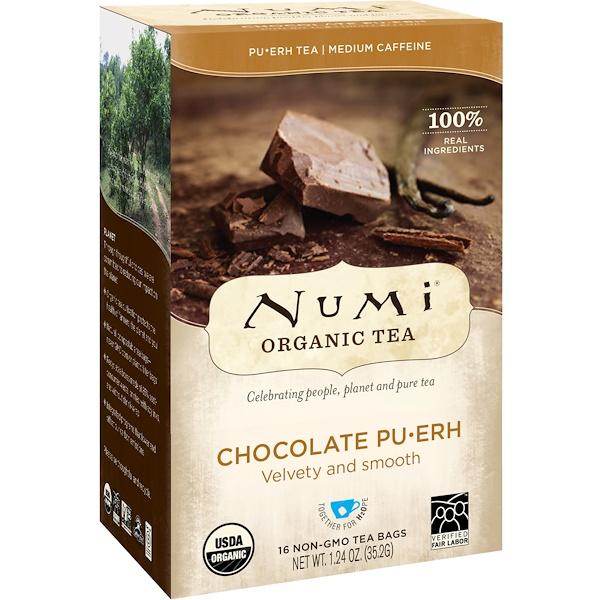 Organic Tea, Pu-Erh Tea, Chocolate Pu-Erh, 16 Tea Bags, 1.24 oz (35.2 g)