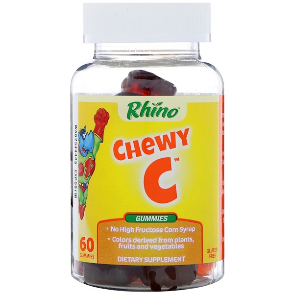 Nutrition Now, Rhino, Chewy C, 60 жевательных таблеток (Discontinued Item)
