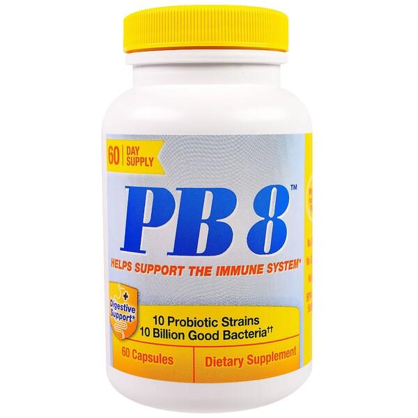 PB 8, поддержка иммунной системы, 60 капсул