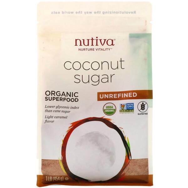 Nutiva, Органический кокосовый сахар, 454г (1фунт)