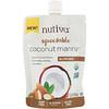 Nutiva, Органическое сжимаемое кокосовое масло, Coconut Manna, со вкусом миндаля, 176г