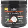 Nutiva, Органические среднецепочечные триглицериды (MCT) в виде порошка, со вкусом шоколада, 300г (10,6унции)