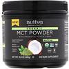 Nutiva, Органические среднецепочечные триглицериды (MCT) в виде порошка, со вкусом матча, 300г