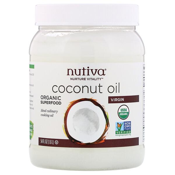 Nutiva, Кокосовое масло первого отжима, 1,6л