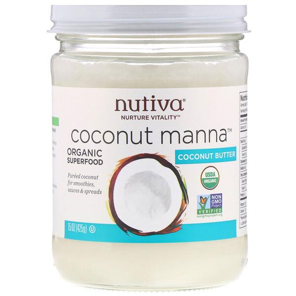 Органический продукт, Coconut Manna, кокос в виде пюре, 425г