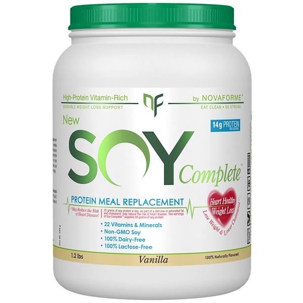 NovaForme, Только Соя, Белковый Пищевой Заменитель, Ваниль, 1,2 фунта (Discontinued Item)