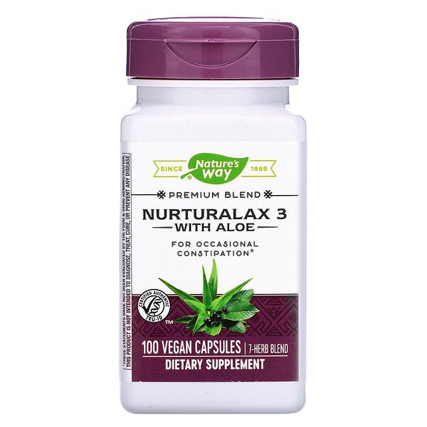 Nurturalax 3 with Aloe, 100 Vegan Capsules