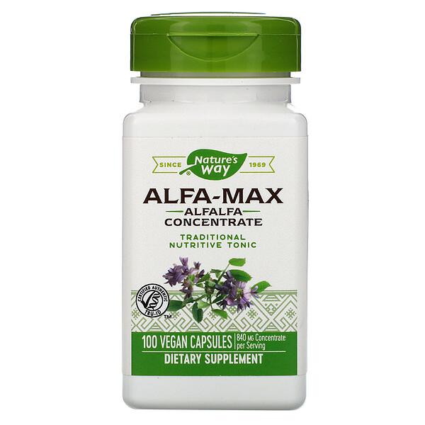 Alfa-Max, Alfalfa Concentrate, 840 mg, 100 Vegan Capsules