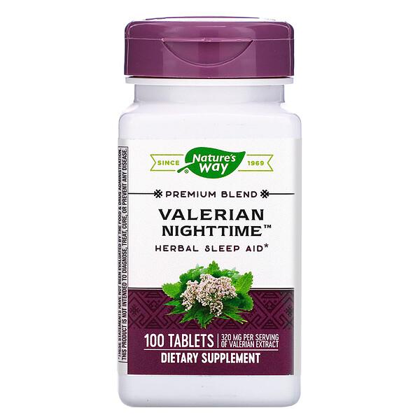 Valerian Nighttime, 100 Tablets