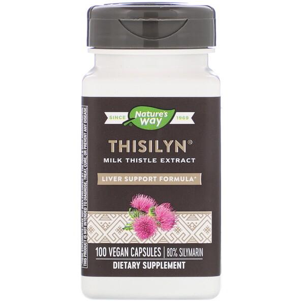Nature's Way, Thisilyn, формула для поддержки печени, 100 капсул