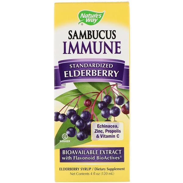 Sambucus Immune, стандартизированная настойка с бузиной, 120мл (4жидких унции)