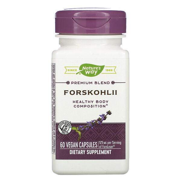 Nature's Way, Колеус форсколии, 125 мг, 60 веганских капсул