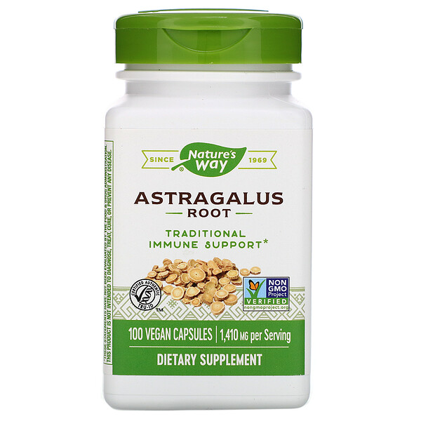Nature's Way, Astragalus Root, 1,410 mg , 100 Vegan Capsules