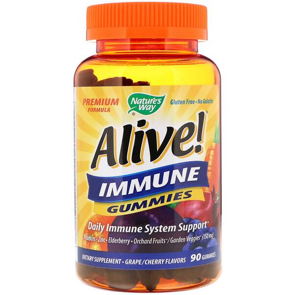 Живой! Жевательные таблетки для иммунитета, виноград/вишня, 90 таблеток