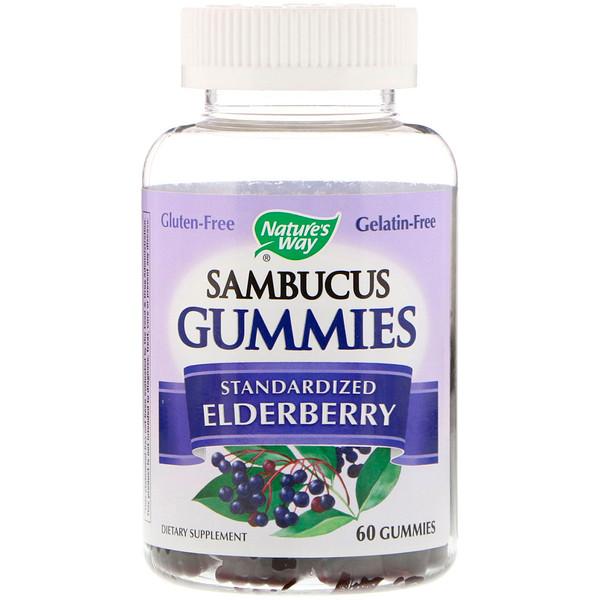 Sambucus, стандартизированный экстракт бузины, 60жевательных таблеток