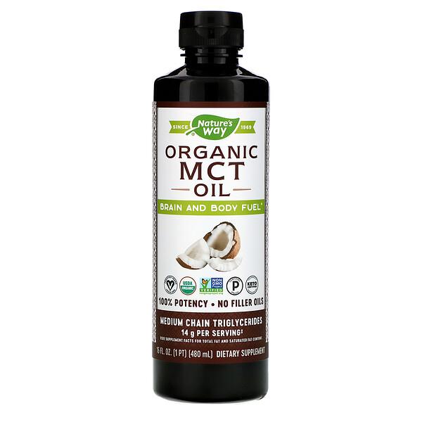 Органическое масло со среднецепочечными триглицеридами (СЦТ), 480мл (16жидкихунций)