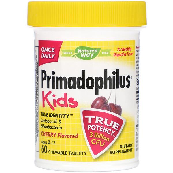 Primadophilus для детей со вкусом вишни, 60 жевательных таблеток