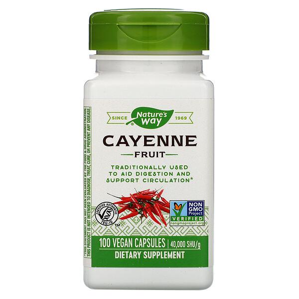 Cayenne Fruit, 40,000 SHU/g, 100 Vegan Capsules