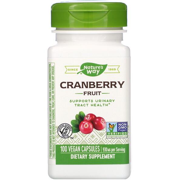 Cranberry Fruit, 930 mg, 100 Vegan Capsules