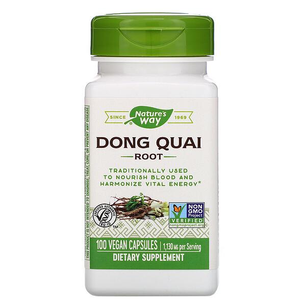 Dong Quai Root, 1,130 mg, 100 Vegan Capsules