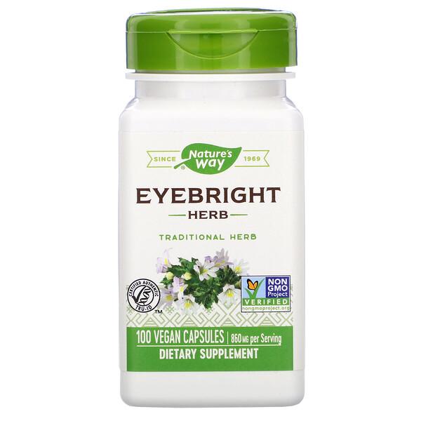 Nature's Way, Eyebright Herb, 860 mg, 100 Vegan Capsules
