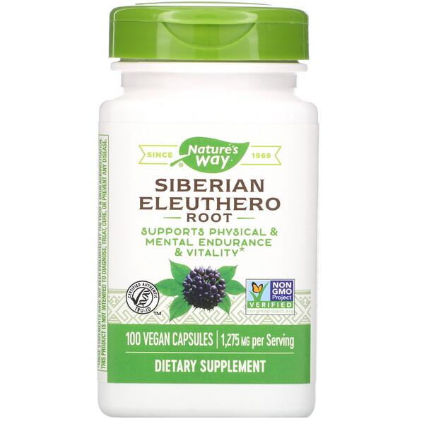 Nature's Way, Siberian Eleuthero Root, 1,275 mg, 100 Vegan Capsules