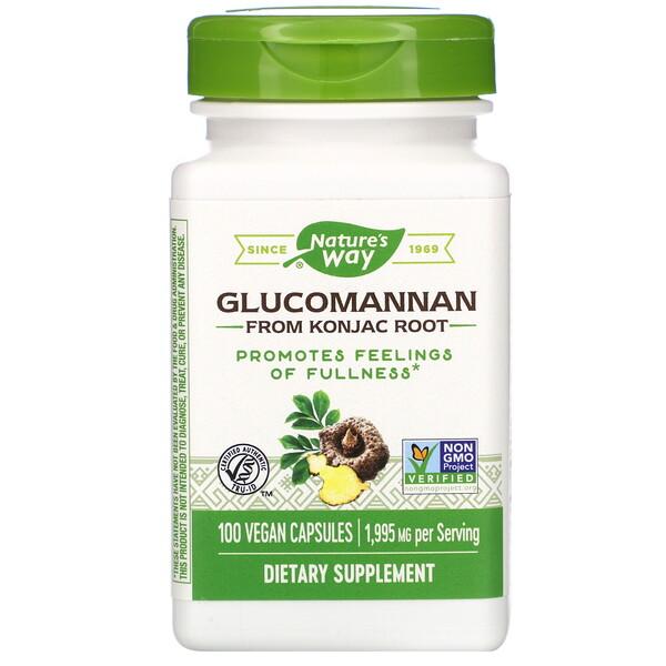 Glucomannan from Konjac Root, 1,995 mg, 100 Vegan Capsules