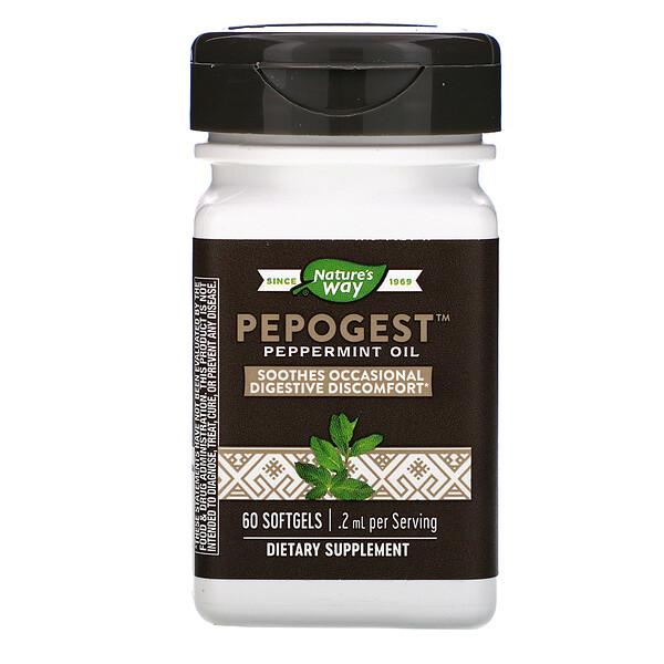 Pepogest, Peppermint Oil, .2 mg, 60 Softgels