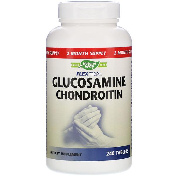 Nature's Way, FlexMax, Glucosamine Chondroitin, 240 Tablets