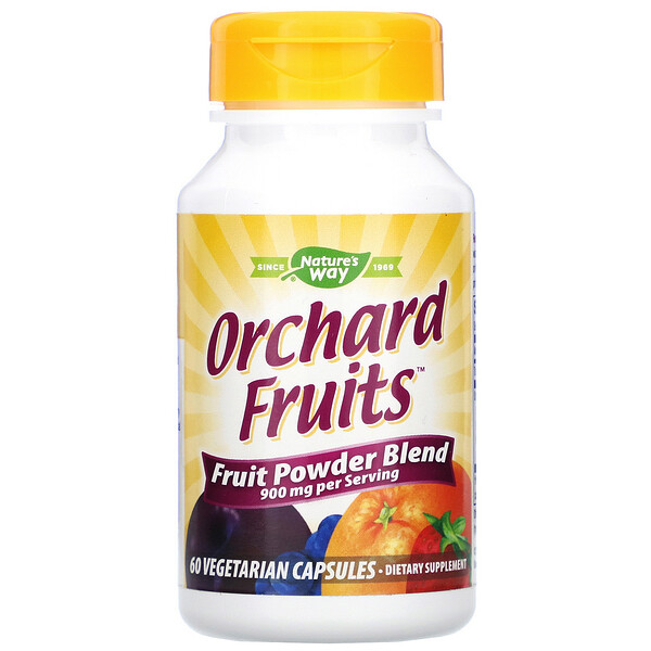 Nature's Way, Orchard Fruits, Fruit Powder Blend, 900 mg, 60 Vegetarian Capsules