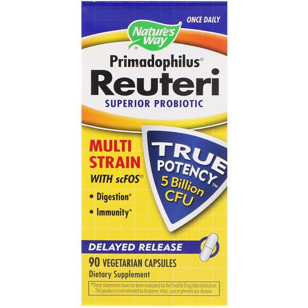 Primadophilus Reuteri, улучшенный пробиотик, 90 вегетарианских капсул
