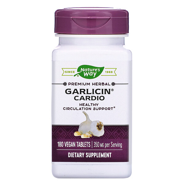 Nature's Way, Garlicin Cardio, 350 mg, 180 Vegan Tablets