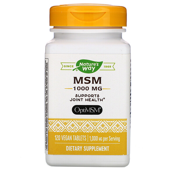 MSM, 1,000 mg, 120 Vegan Tablets