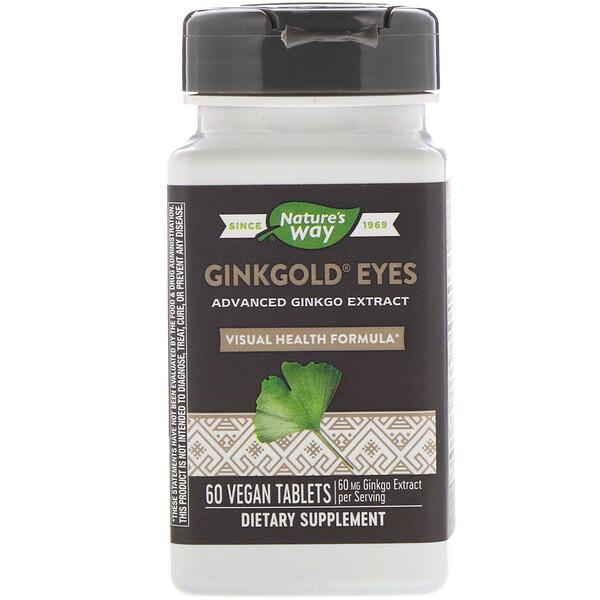 Nature's Way, Ginkgold Eyes, 60 таблеток растительного происхождения